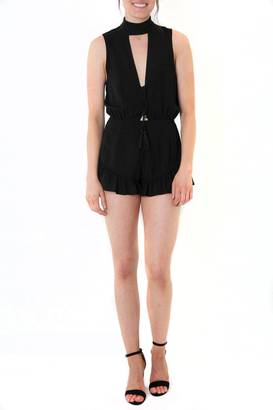 Cotton Candy Cheeky Black Romper $48 thestylecure.com