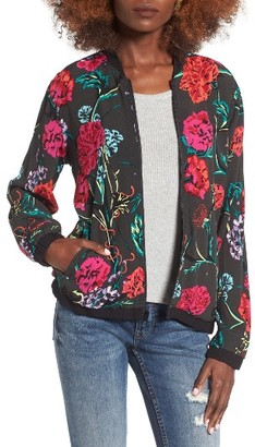 Women's Obey Jinx Reversible Bomber Jacket $106 thestylecure.com
