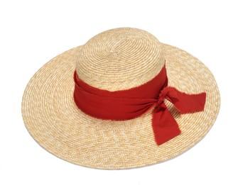 Justine Hats Wide Brim Boater Straw Hat