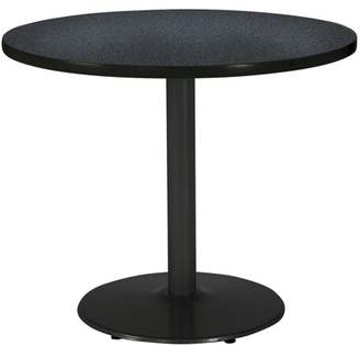 "KFI seating KFI 36"" Round Pedestal Breakroom Table with Multiple Colors Top, Round Black Base"