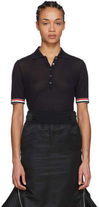 Thom Browne Navy Relaxed-Fit Polo