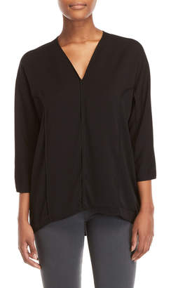 Halston V-Neck Dolman Sleeve Top