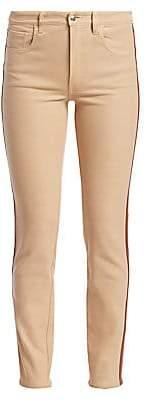 Ralph Lauren Women's 400 Matchstick Leather Trim Jeans