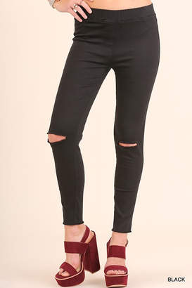 Umgee USA High-Waist Knee-Cut Jeggings