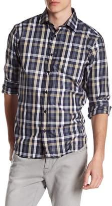 James Tattersall Classic Fit Plaid Woven Shirt