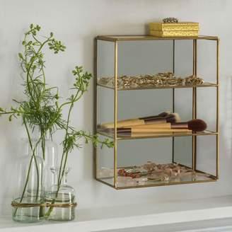Graham and Green Tilli Brass Box Wall Cabinet