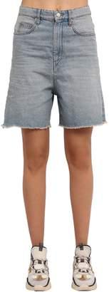 Etoile Isabel Marant Ciny Boyfriend Cotton Denim Shorts