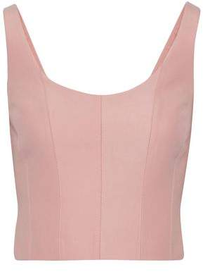 Halston Cotton And Silk-Blend Top