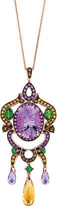 LeVian Le Vian 14K Rose Gold 13.66 Ct. Tw. Gemstone Necklace