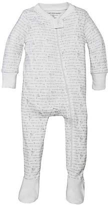 Burt's Bees Baby Alphabet Bee Organic Zip Front Footed Pajamas