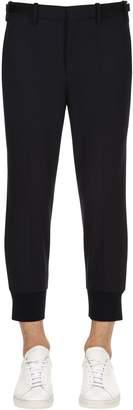 Neil Barrett 14cm Stretch Fine Gabardine Wool Pants