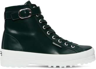ALEXACHUNG Alexa Chung Superga 40mm Leather High Top Sneakers