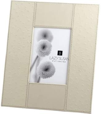 Lazy Susan Ostrich Leather Photo Frame, 5x7