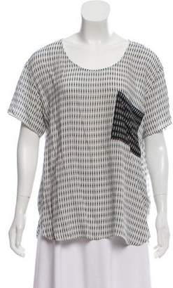 Hatch Printed Short Sleeve Top
