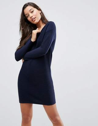 Asos Jumper Dress In Ripple Stitch