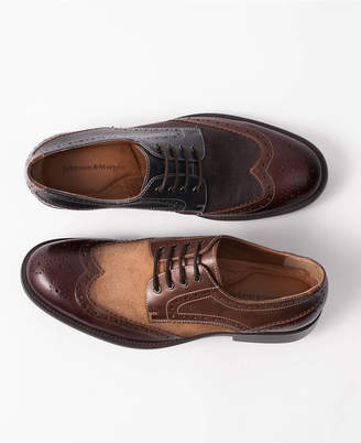 Johnston & Murphy Men's Fletcher Wingtip Lace-Up Oxfords