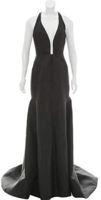 J. Mendel Embellished Cutout Dress