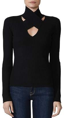 Bailey 44 All In Crisscross Rib-Knit Sweater