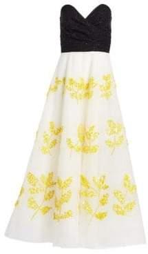 Joya Sequin Bustier Gown