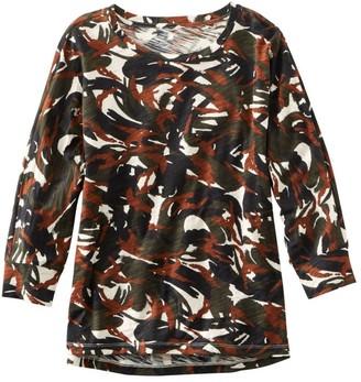L.L. Bean L.L.Bean Women's Signature Essential Knit Tee, Dolman Sleeve Print