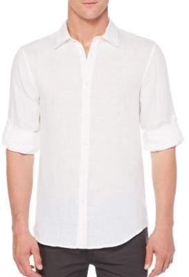 Perry Ellis Linen Button-Down Shirt
