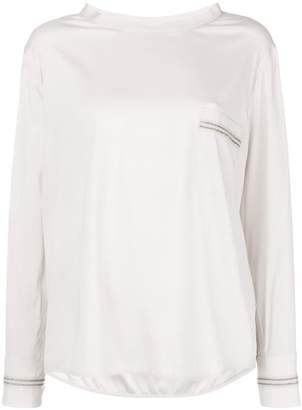 Lorena Antoniazzi chest pocket blouse