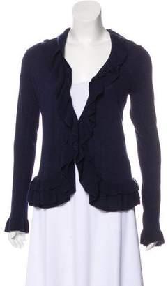 Rebecca Taylor Ruffled Knit Cardigan