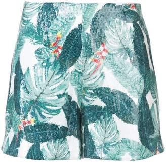 Rachel Zoe leaf pattern shorts