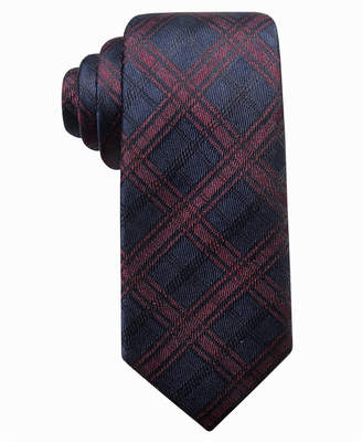 Ryan Seacrest Distinction Men Pienza Plaid Slim Silk Tie