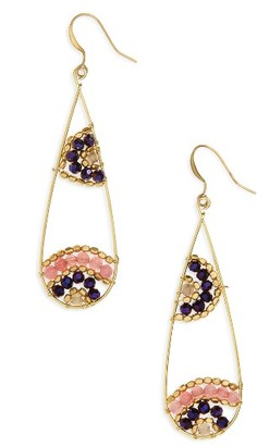 Women's Panacea Beaded Teardrop Earrings $18 thestylecure.com