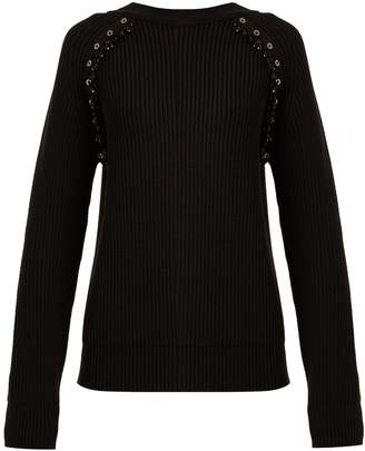 No.21 NO. 21 Embellished ribbed-knit wool sweater