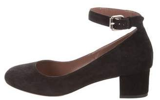 Tabitha Simmons Round-Toe Suede Pumps