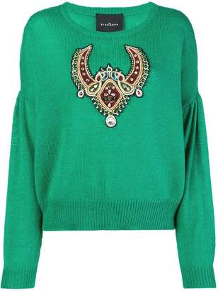 John Richmond embroidered appliqué sweater