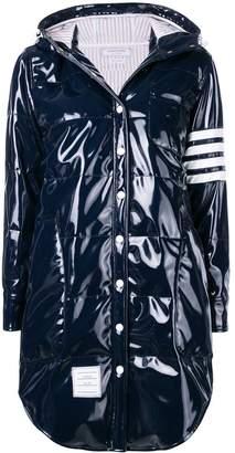 Thom Browne 4-Bar Down Slicker Shirtdress