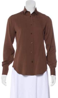 Loro Piana Silk Button-Up Blouse