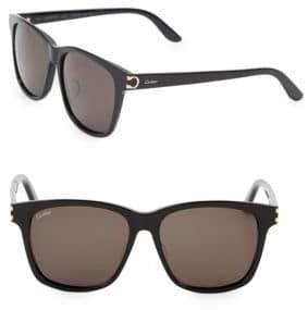 Cartier 55MM Square Sunglasses