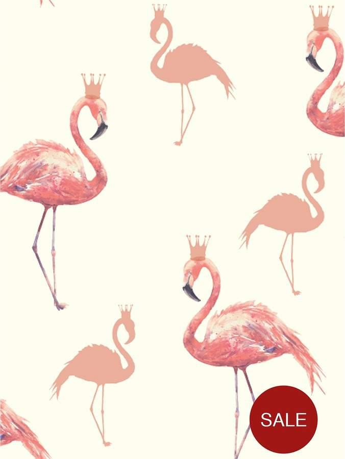 ARTHOUSE Queen Flamingo Coral Wallpaper