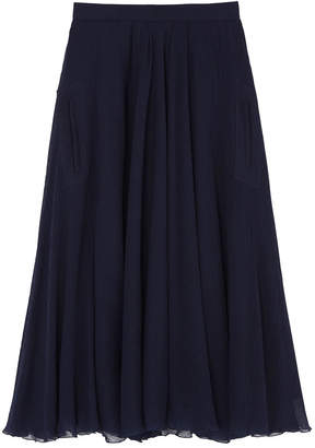Rochas Wool Gauze Full Skirt