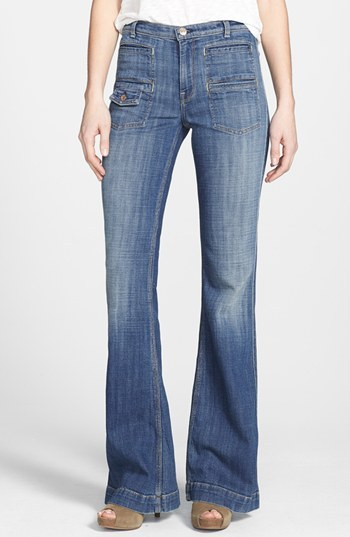 7 For All Mankind 'Georgia' High Rise Flare Jeans (BRT Light Broken Twill)