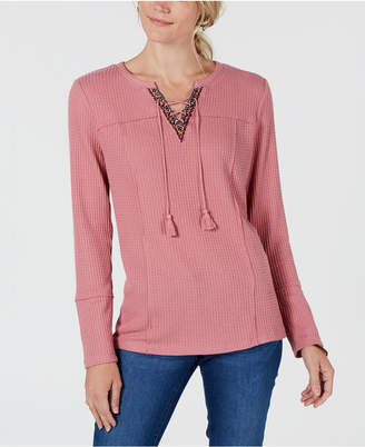 Style&Co. Style & Co Lace-Up Thermal
