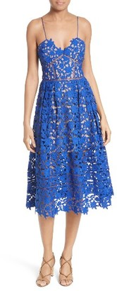 Women's Self-Portrait 'Azaelea' Lace Fit & Flare Dress $500 thestylecure.com