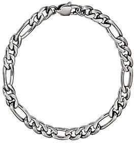 "Steel by Design Men's 9"" Figaro Bracelet"
