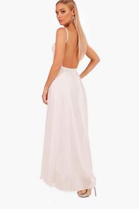 boohoo Boutique Open Back Chiffon Maxi Dress