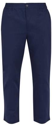 P. le moult P. Le Moult - Cotton Lounge Trousers - Mens - Navy