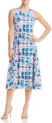 Donna Karan Sleeveless Tie-Dye Dress