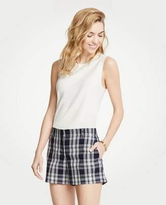 Ann Taylor Petite Plaid City Shorts
