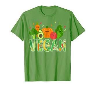VEGAN T-Shirt Cute Fruits Vegetables Raw Plant Powered Shirt