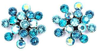 Konplott Women's Stud Earrings Blue Glass Magic Fireball 2 cm – 5450543464152