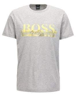 BOSS Hugo Cotton Graphic T-Shirt Tee XXL Light Grey