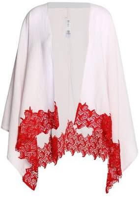 Maje Lace-Trimmed Cotton-Blend Cape